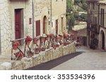beautiful flowers hanging on... | Shutterstock . vector #353534396