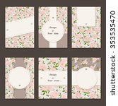 set of vintage vector template... | Shutterstock .eps vector #353535470