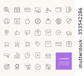 e commerce outline icons for... | Shutterstock .eps vector #353542286