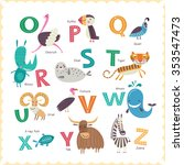 cute vector zoo alphabet with... | Shutterstock .eps vector #353547473