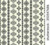 tribal art ethnic seamless... | Shutterstock . vector #353547686