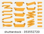 yellow ribbons banners tags... | Shutterstock .eps vector #353552720