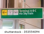 information sign at the airport. | Shutterstock . vector #353554094