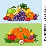fruit and vegetables | Shutterstock .eps vector #353556179