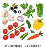 set of isolated icons fresh... | Shutterstock .eps vector #353556554