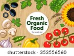 organic food colorful... | Shutterstock .eps vector #353556560