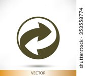 recycle vector sign icon | Shutterstock .eps vector #353558774