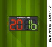 football substitution board... | Shutterstock .eps vector #353564729