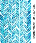 seamless zigzag pattern with animal spots texture. a swimwear or interior print with beautiful hand mad stamping effect. allover zigzag pattern in strong blue colors