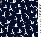 flying birds seamless pattern.  ... | Shutterstock .eps vector #353565950
