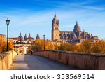 autumn view of salamanca with... | Shutterstock . vector #353569514