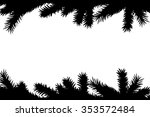 christmas tree branches ... | Shutterstock .eps vector #353572484