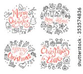 christmas and new year design... | Shutterstock .eps vector #353574836