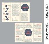 tri fold flyer brochure... | Shutterstock .eps vector #353575460