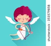 valentine's day cute cupid with ... | Shutterstock .eps vector #353579858