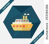 transportation ferry flat icon... | Shutterstock .eps vector #353584286