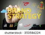 hand drawing and writing brand... | Shutterstock . vector #353586224