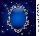 Vintage Oval Frame. Sapphire...