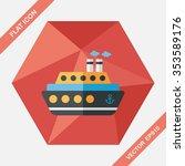 transportation ferry flat icon... | Shutterstock .eps vector #353589176