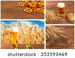 collage with oktoberfest beer... | Shutterstock . vector #353593469