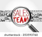 sales team sale word cloud with ... | Shutterstock . vector #353593760