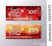 season greeting holiday gift... | Shutterstock .eps vector #353593979