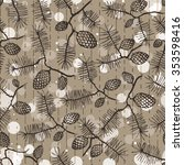 fir pine pattern. christmass... | Shutterstock .eps vector #353598416