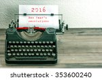 typewriter with white paper... | Shutterstock . vector #353600240