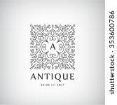 vector luxury vintage logo ...   Shutterstock .eps vector #353600786