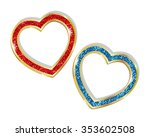 pendant heart in a frame on a... | Shutterstock .eps vector #353602508