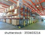 mobile aisle racking system in... | Shutterstock . vector #353603216