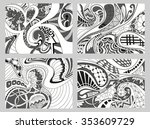 set of four abstract background ... | Shutterstock .eps vector #353609729