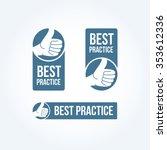 best practice labels   Shutterstock .eps vector #353612336