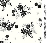 abstract flower seamless... | Shutterstock .eps vector #353621699