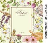 vector vintage frame with wild... | Shutterstock .eps vector #353626568