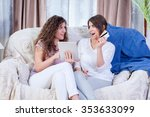 two young female sisters... | Shutterstock . vector #353633099