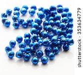 blue bead isolated on white... | Shutterstock . vector #353634779