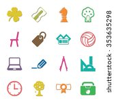 school 16 icons universal set... | Shutterstock .eps vector #353635298