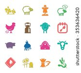 16 icons universal set for web... | Shutterstock .eps vector #353636420