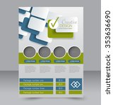 brochure design. flyer template.... | Shutterstock .eps vector #353636690