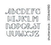 latin elegant line typescript.... | Shutterstock .eps vector #353646980