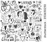 love doodles | Shutterstock .eps vector #353650250
