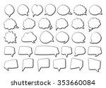 stickers of speech bubbles  ... | Shutterstock .eps vector #353660084