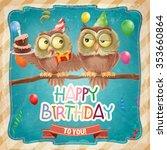 happy birthday banner | Shutterstock .eps vector #353660864