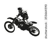 Motocross. Vector Silhouette O...