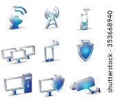 telecom communication blue... | Shutterstock .eps vector #353668940