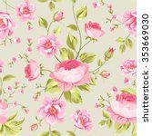 luxurious peony wallapaper in... | Shutterstock .eps vector #353669030