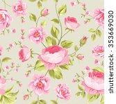 luxurious peony wallapaper in...   Shutterstock .eps vector #353669030
