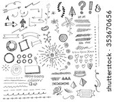 hand drawn doodads and sketch... | Shutterstock .eps vector #353670656