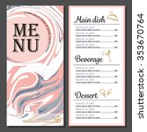 menu design modern food and... | Shutterstock .eps vector #353670764